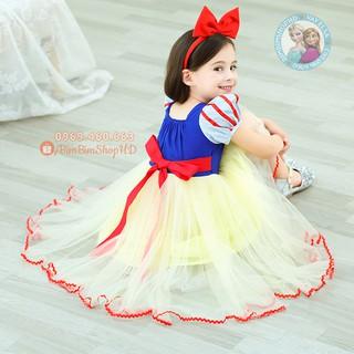Váy Đầm Công Chúa Bạch Tuyết Nhí. Đầm Bạch Tuyết Siêu Xinh