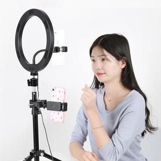 3L12 Đèn led livestream 26cm có giá đỡ 3 chế độ đèn bảnh hành 6 tháng thumbnail