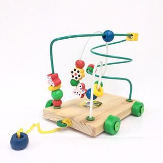 Đồ chơi gỗ giáo dục Bộ luồn hạt xoắn kéo dây Minh Thành
