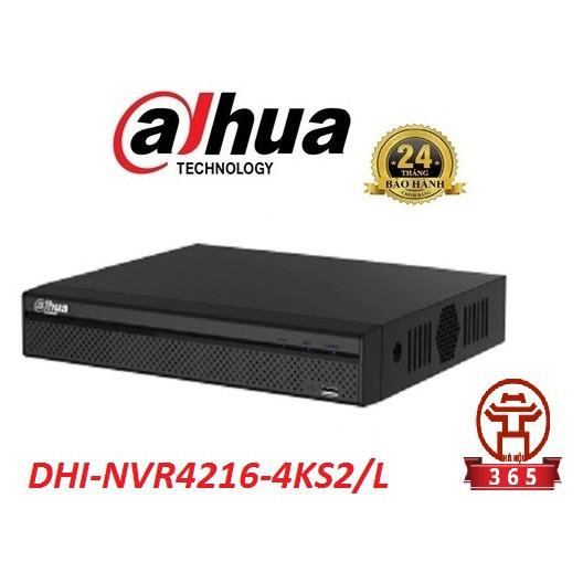 Đầu ghi hình 16 kênh DAHUA DHI-NVR4216-4KS2 -- Giá rẻ, bảo hành 24 tháng, hàng chính hãng, chất lượng cao