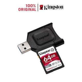 Thẻ Nhớ SD Kingston Canvas React Plus V90 300mbs/260mbs UHS II 64GB camera quay phim chuyên nghiệp 4K/8K 64GB MLPR2/64GB
