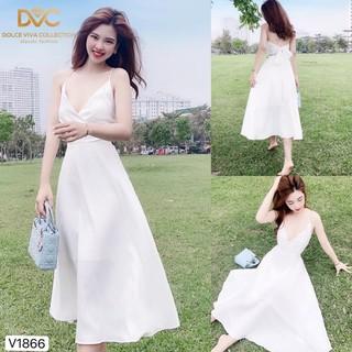 [Nhập WAMAR931 giảm ngay 15k]Váy thiết kế chất voan tơ phối lụa hợp với đi biển V1866 _Zin Boutique [Kèm ảnh thật]