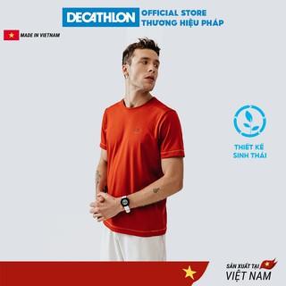 Áo thun nam DECATHLON run dry chuyên chạy bộ, nhanh khô - đỏ gạch thumbnail
