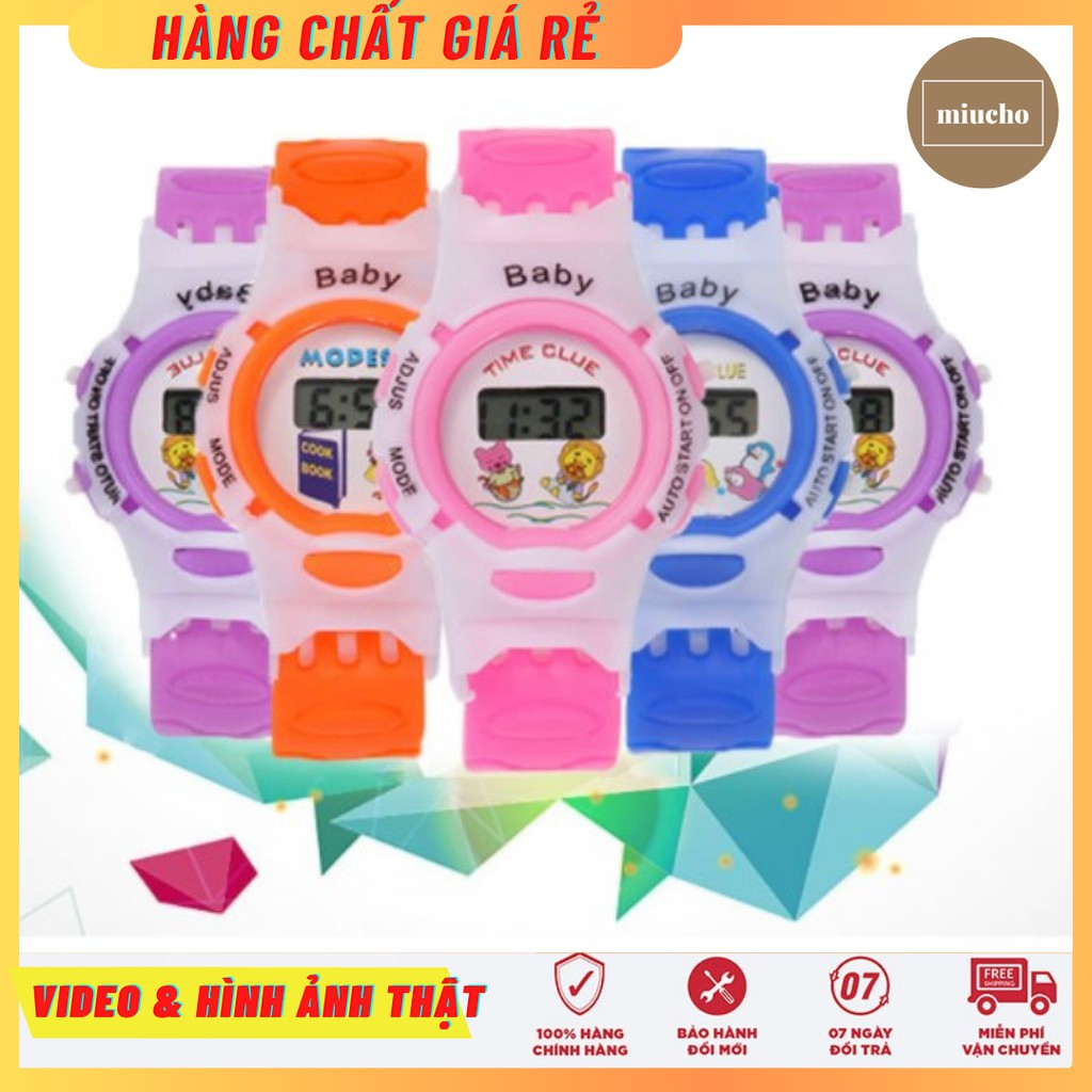Đồng hồ điện tử trẻ em dây nhựa DH114 Miucho