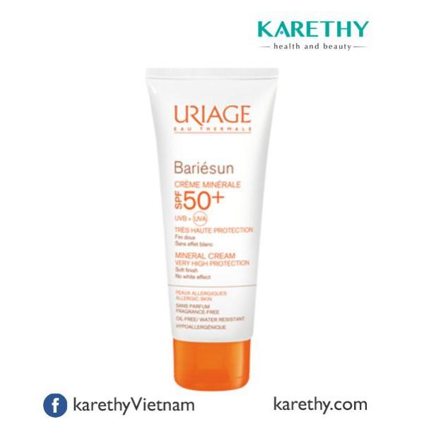 Uriage Bariésun Mineral Cream SPF50+: Kem Chống Nắng Uriage cho Da Nhạy Cảm (50 ml)
