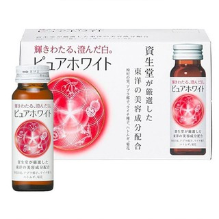 Nước Uống Trắng Da Shiseido Pure White 10 Chai - giúp nuôi dưỡng làn da trắng mịn, tươi trẻ từ sâu bên trong. thumbnail