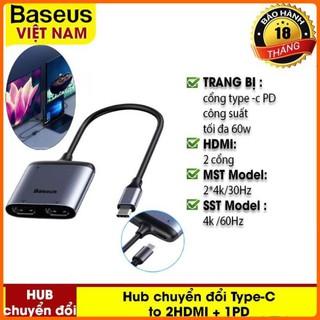 Hub Chuyển Đổi Type-C To 2HDMI + 1PD Cho Macbook Air Pro Samsung Huawei – Thương Hiệu Baseus