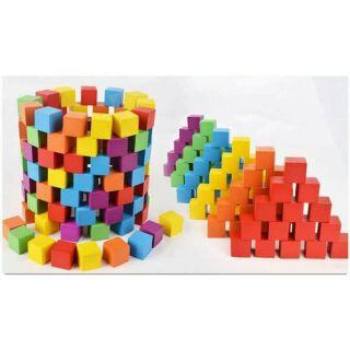 50 khối gỗ vuông màu ( cube 2cm) thumbnail
