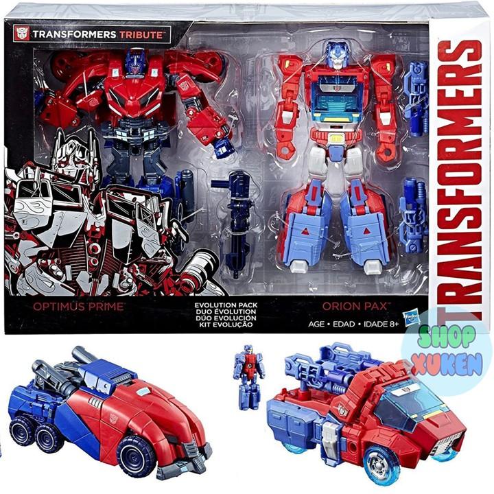 Bộ 2 Robot Biến Hình Transformers Tribute Optimus Prime & Orion Pax Exclusive Deluxe