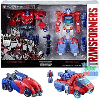 Bộ 2 Robot Biến Hình Transformers Tribute Optimus Prime & Orion Pax Exclusive Deluxe