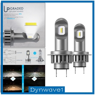 [DYNWAVE1] 1 Pair Mini H7 LED Bulb Headlights Lamps 50W 6000k Replacement Plug&Play