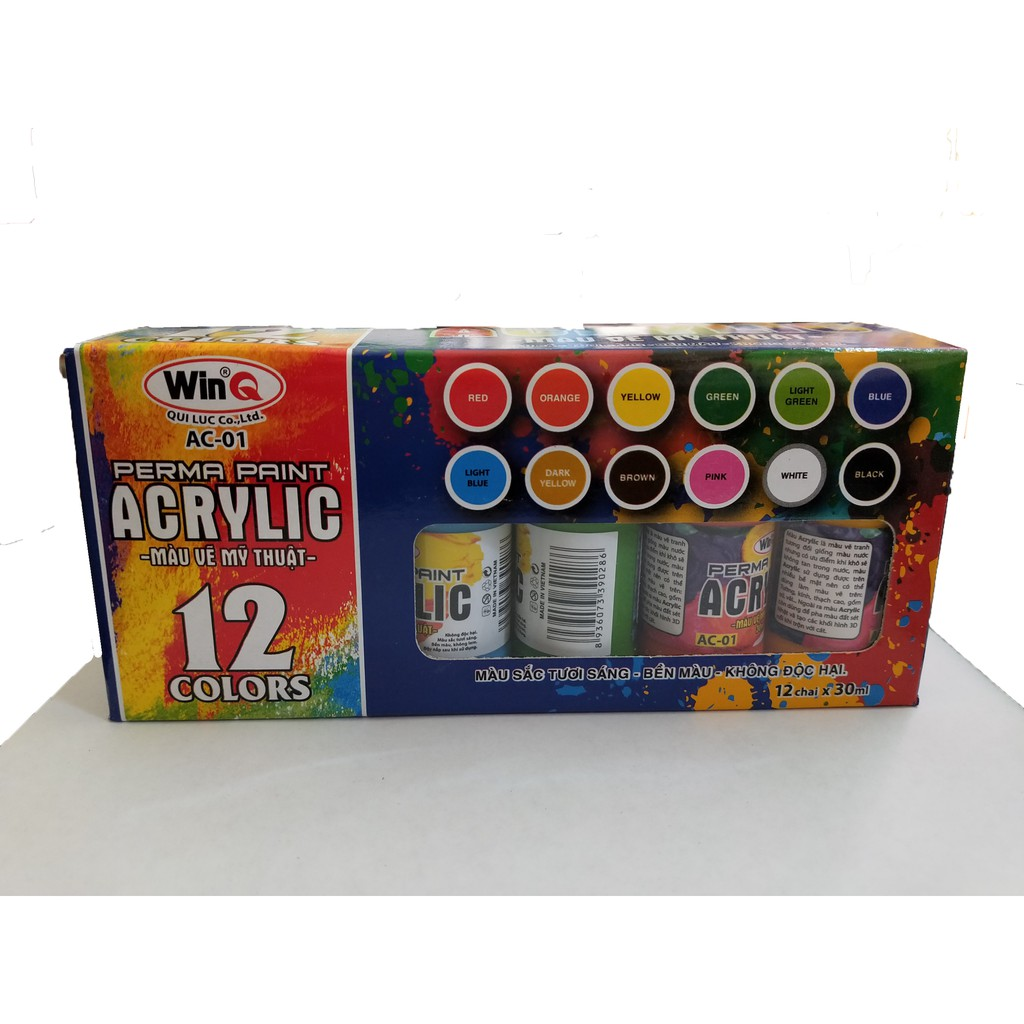 Màu Acrylic Win AC-01 - 12 màu