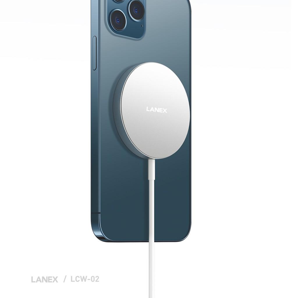 Đế sạc nhanh Lanex LCW - 02 không dây 15W Type-C, dài 1.0m -Dành cho Iphone 12, 12 Pro, 12 Pro Max