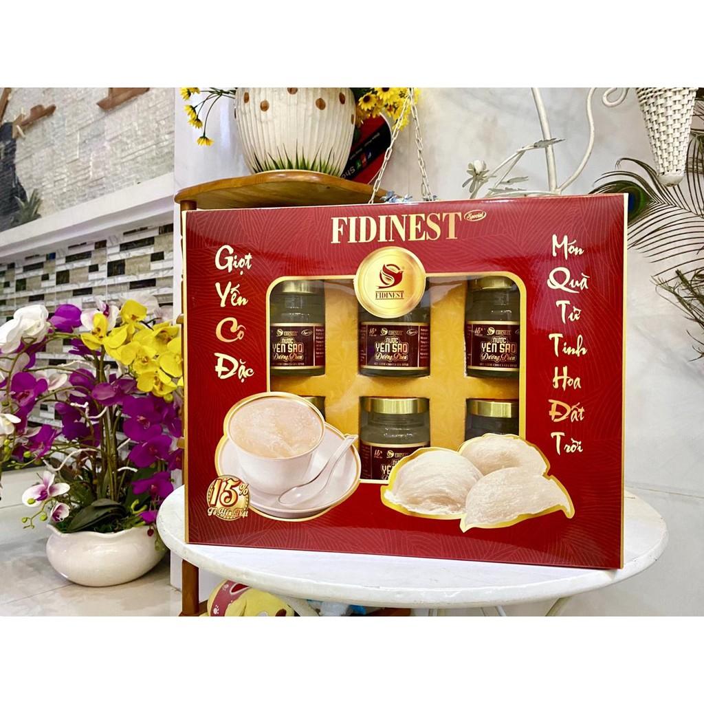 Hộp yến sào Fidinest 15% yến 6 lọ x 70ml