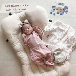 Nhộng Chũn, Quấn Chũn [ 100% COTTON HÀN QUỐC ] cho trẻ sơ sinh giúp bé ngủ ngon, sâu giấc + Tặng set tất lưới cho bé thumbnail