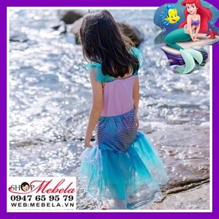 Váy Nàng tiên cá, công chúa Ariel cho bé 16-35kg có clip và ảnh thật