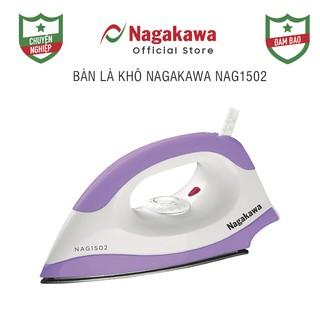 Bàn Ủi Khô Nagakawa NAG1502 - Hàng Chính Hãng - 1200W - (Tím) mặt đế phủ chống dính Teflon thumbnail