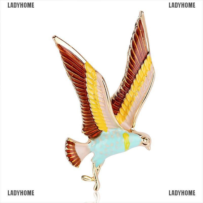 【Ladyhome】Enamel Animal Bird Piercing Brooch Pin Collar Decor Badge Corsage Je