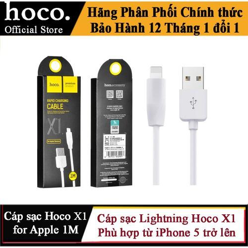 Cáp sạc Lightning iPhone iPad Hoco X1 ✓ Dài 1M ✓ cho 6 6S 7 8 Plus X XS XS MAX 11 PRO MAX