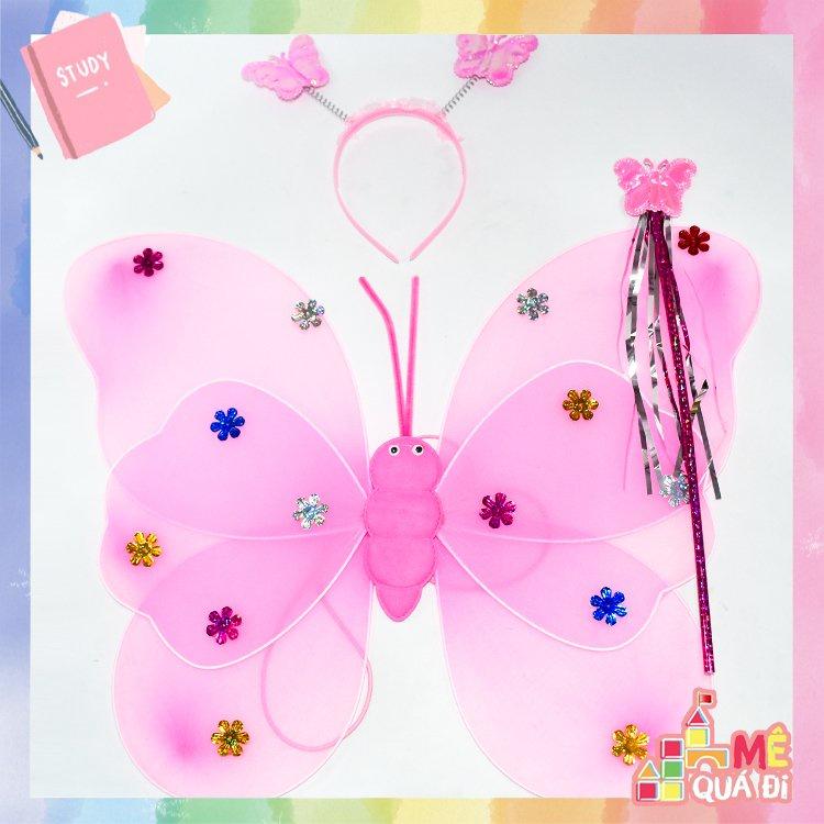 Bộ cánh bướm thiên thần tặng kèm vương miện và gậy cho bé
