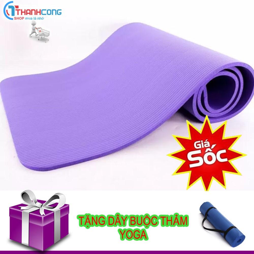 Thảm Tập yoga chống thấm nước tặng dây buộc thảm