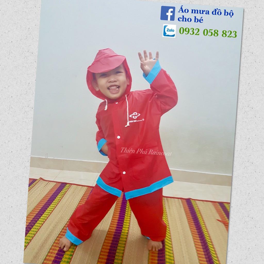 [Size 4] Áo mưa đồ bộ cho bé Size 4