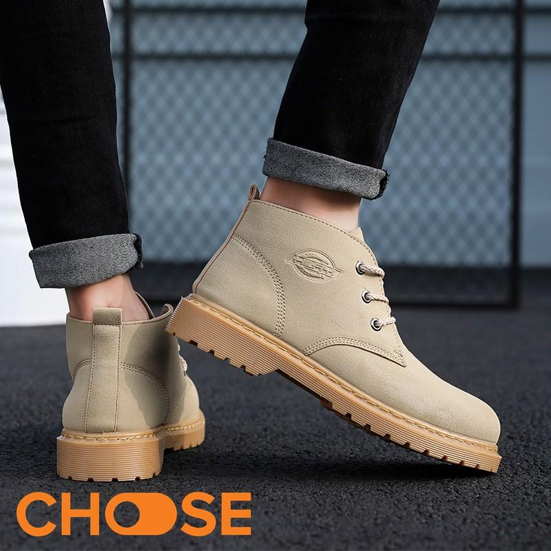 Giày Nam Giày BOOT ngắn Cổ Cao Nam Da lộn Thể Thao Sneaker Năng Động Lịch Lãm G26K3