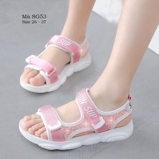 Dép sandal bé gái cao cấp 3 – 12 tuổi quai hậu chống trơn chống vấp cho bé học sinh tiểu trung học SG53