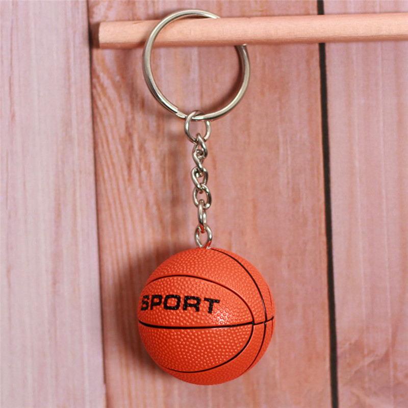 NG 1 PC Creative Simulation Sports Ball Volleyball Basketball Football Baseball Key Chain Jewelry Gift