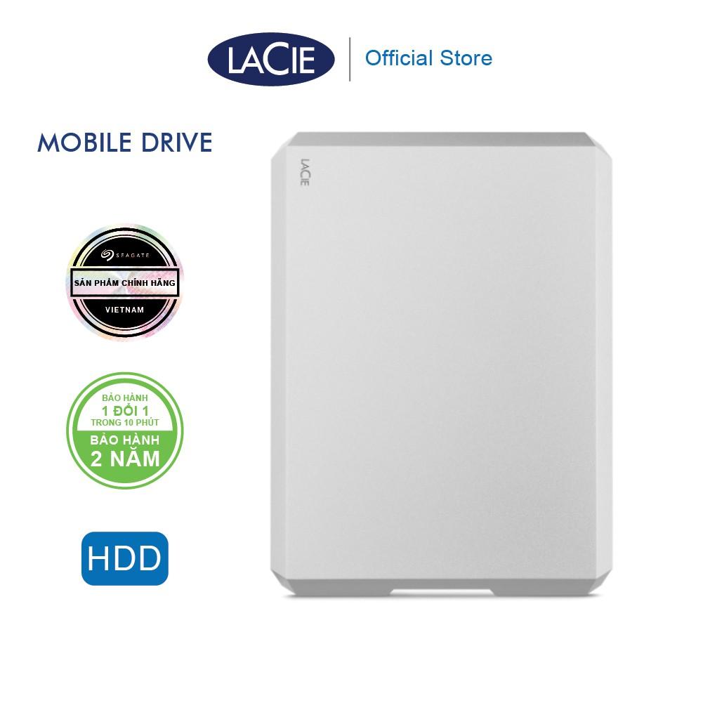 Ổ Cứng Di Động HDD Lacie Munich Mobile Drive 1TB, 2TB, 4TB, 5TB USB-C, USB 3.0 (Bạc)