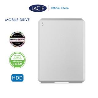 [Mã ELMALL300 giảm 7% đơn 500K] Ổ Cứng Di Động HDD Lacie Munich Mobile Drive 1TB, 2TB, 4TB, 5TB USB-C, USB 3.0 (Bạc) thumbnail