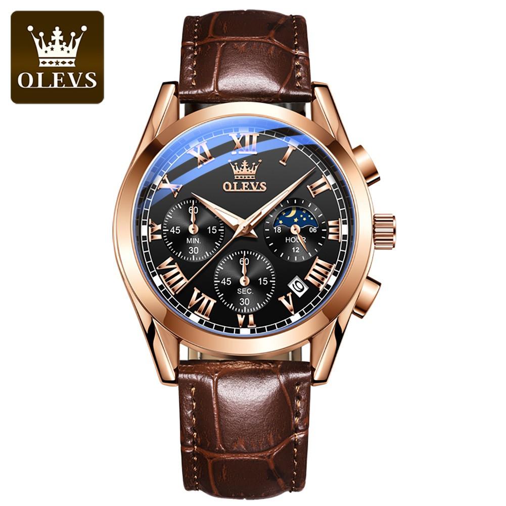Đồng hồ đeo tay OLEVS 2871 cơ cấu thạch anh kim chỉ chống nước cho nam