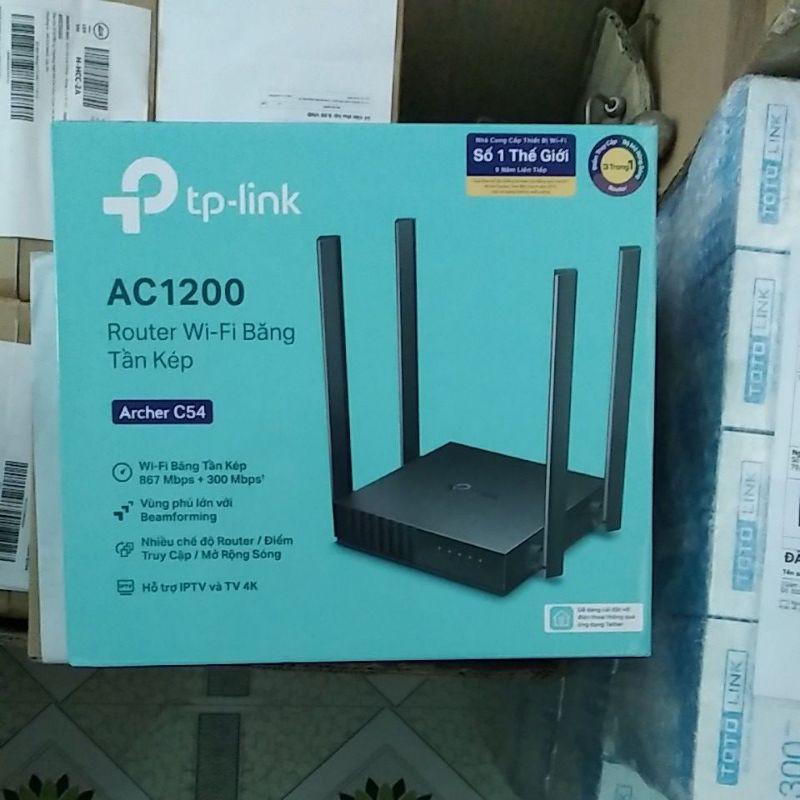 Bộ phát wifi băng tần kép chuẩn AC 1200 TP-Link Archer C54 chính hãng