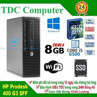 Case máy tính để bàn HP ProDesk 400 G3 SFF main H110, cpu core i5 6500, ram 8GB, SSD 240GB. Hàng Nhập Khẩu.