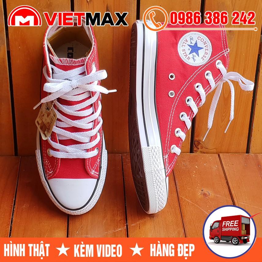 ⚡[FREE SHIP] Giày Converse Cổ Cao Đỏ Tươi Nam Nữ