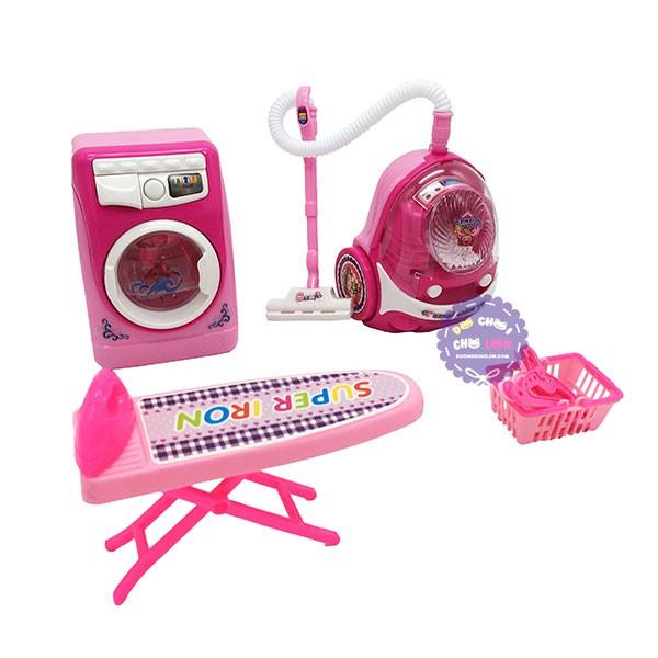 Hộp đồ chơi nhà bếp: máy giặt, bàn ủi, máy hút bụi, móc phơi dùng pin - 2818958 , 742823625 , 322_742823625 , 179000 , Hop-do-choi-nha-bep-may-giat-ban-ui-may-hut-bui-moc-phoi-dung-pin-322_742823625 , shopee.vn , Hộp đồ chơi nhà bếp: máy giặt, bàn ủi, máy hút bụi, móc phơi dùng pin