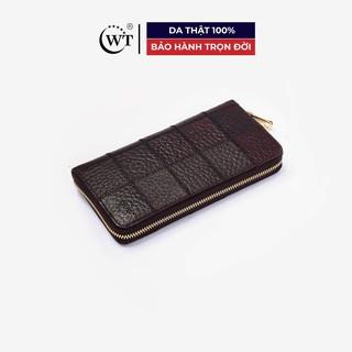 Ví Nữ Da Bò Cao Cấp Màu Nâu, Màu Xanh Navy WT Leather 0480, 0480.7 thumbnail