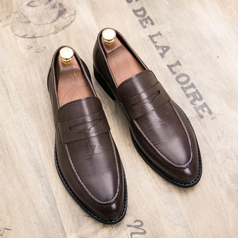 Giày Oxford da bóng phong cách doanh nhân cho nam
