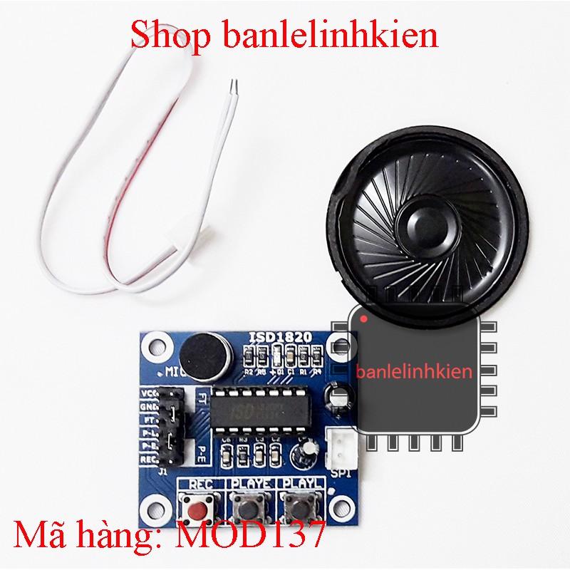 Module ghi âm giọng nói ISD1820