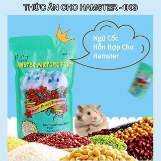 Thức ăn ngũ cốc hỗn hợp cho hamster 1000gr rau củ quả tăng cường dinh dưỡng tự nhiên thumbnail