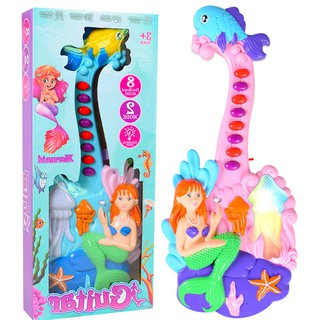 Children's Musical Toys Small Electric Cartoon Fish Guitar Flash Girl Early Educ