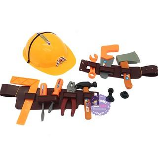 Bộ đồ chơi nón bảo hộ & dụng cụ sửa chữa có dây đeo túi lưới – ĐỒ CHƠI CHỢ LỚN