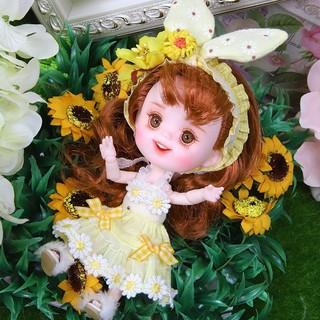 Búp bê 1/12 obitsu 11 Dreamfairy váy vàng xinh