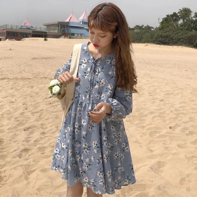 Đầm babydoll hoa phong lan tay dài - 3308537 , 1125242458 , 322_1125242458 , 202000 , Dam-babydoll-hoa-phong-lan-tay-dai-322_1125242458 , shopee.vn , Đầm babydoll hoa phong lan tay dài