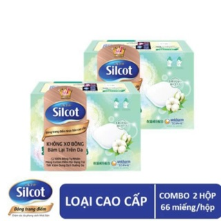 Combo 2 hộp Bông Trang điểm ( Bông tẩy trang cao cấp Silcot Premium 66 miếng hộp) thumbnail