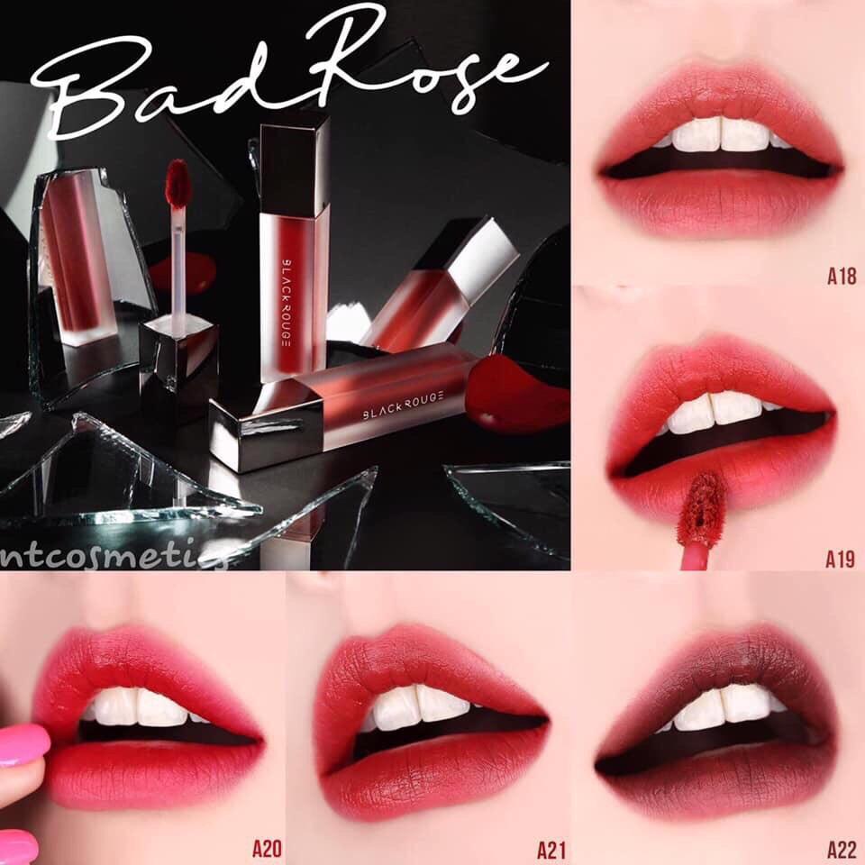 SON KEM Black Rouge Air Fit Velvet Tint Ver.4 Bad Rose   Shopee ...