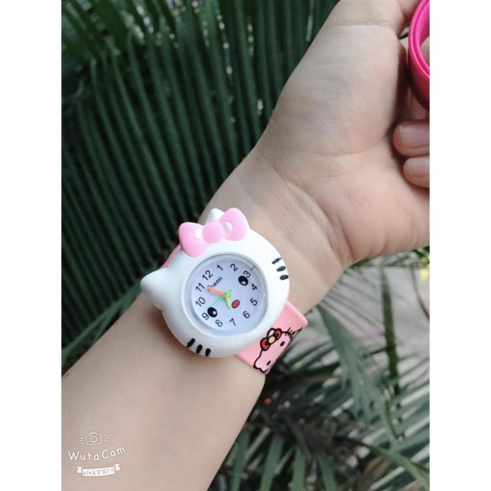 Đồng Hồ Điện Tử Dễ Thương Cho Bé - LHBV đồng hồ đeo tay hình mèo micky