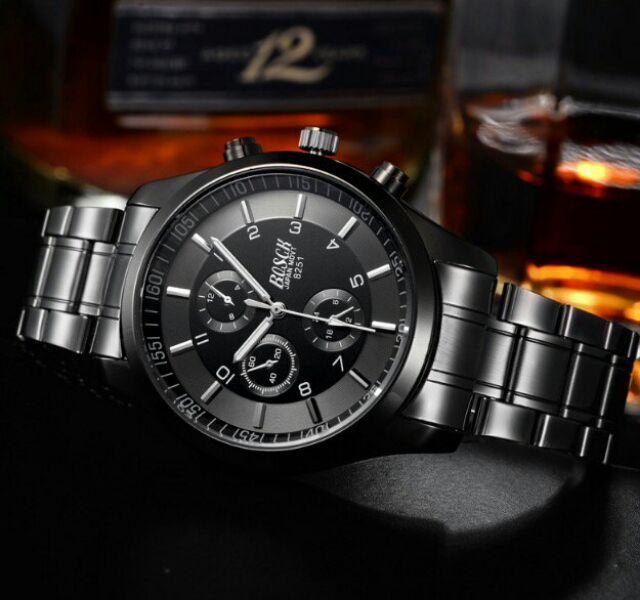 Đồng hồ bosck nam kim loai đen đẹp sắc xảo sang trong