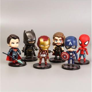 Bộ 6 mô hình nhân vật siêu anh hùng_Avengers