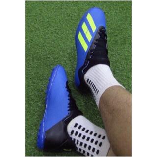 Giày đá bóng sân cỏ nhân tạo X18-KÈM TẤT-KHÂU ĐẾ 100%-GIÀY ĐÁ BANH SÂN CỎ NHÂN TẠO thumbnail